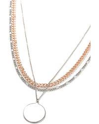 TOPMAN - Multi Disc Necklace - Lyst