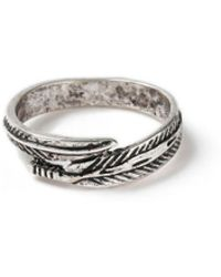 TOPMAN - Ilver Feather Wrap Ring - Lyst
