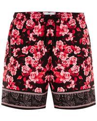TOPMAN - Pink Floral Swim Short - Lyst