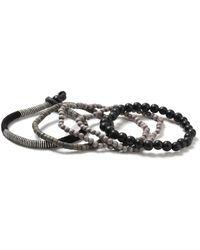 TOPMAN - Multipack Beaded Bracelet - Lyst