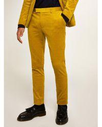 TOPMAN - Mustard Corduroy Super Skinny Trouser - Lyst