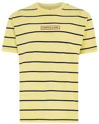 TOPMAN - Yellow Oversized Striped T-shirt - Lyst