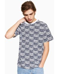 Levi's - Oversized Graphic Cotton Jersey T-shirt - Lyst