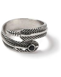 Topman   Feather Wrap Ring   Lyst