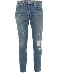 TOPMAN - Levi 512 Blue Slim Tapered Jeans - Lyst