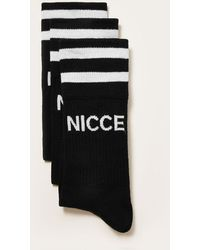 Nicce London - Black Tube Socks 3 Pack - Lyst
