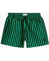 TOPMAN - Black Andstripe Swim Short - Lyst