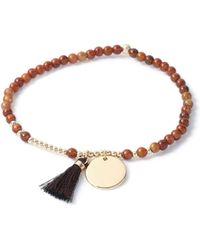 TOPMAN - Brown Tassel Bracelet - Lyst