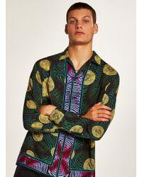 TOPMAN - Bitcoin Print Revere Shirt - Lyst