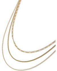 TOPMAN - Gold Multi-row Necklace - Lyst