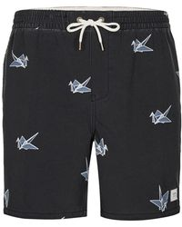 Globe - Black Print Pool Shorts* - Lyst
