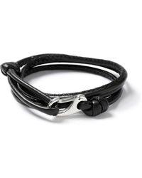 Topman   Black Leather Bracelet   Lyst