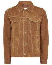 TOPMAN - Tan Suede Western Jacket - Lyst