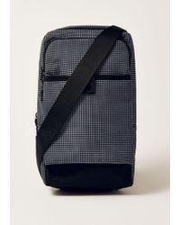 TOPMAN - Navy Grid Cross Body Bag - Lyst