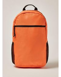 TOPMAN - Orange Backpack - Lyst