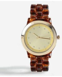 TOPSHOP - tortoiseshell Watch - Lyst
