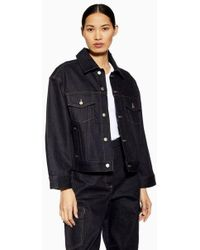 TOPSHOP - indigo Denim Jacket By Boutique - Lyst
