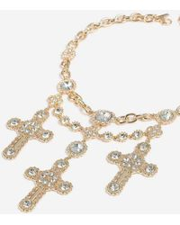 TOPSHOP - cross Chain Collar - Lyst