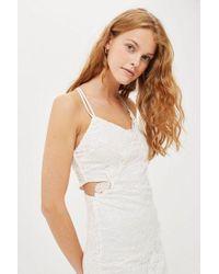 TOPSHOP - Tall Double Lace Mini Dress - Lyst