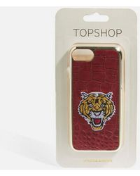 TOPSHOP - Tiger Print Phone Case - Lyst