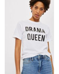 Love - drama Queen Slogan T-shirt By - Lyst