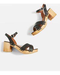 TOPSHOP - Valerie Cross Strap Sandals - Lyst