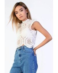 Glamorous - crochet Top By - Lyst