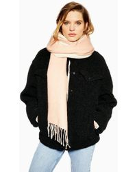 TOPSHOP - Double Face Super Soft Scarf - Lyst