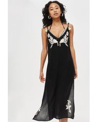 TOPSHOP - Western Embroidered Dress - Lyst