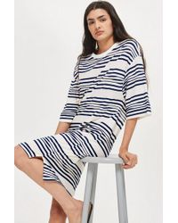 TOPSHOP - Striped Jersey Dress By Native Youth - Lyst