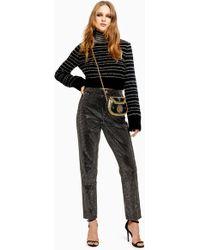 TOPSHOP - Mom Jeans mit Nieten - Lyst