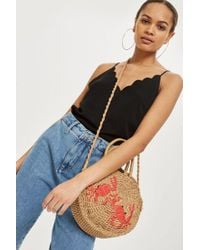 TOPSHOP - Tall Harper Scallop Camisole Top - Lyst