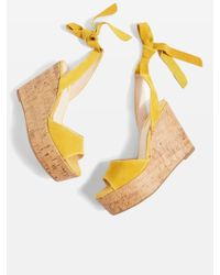 TOPSHOP - Wicked Two Part Wedges - Lyst