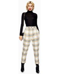 TOPSHOP - Three Button Tapered Trousers - Lyst