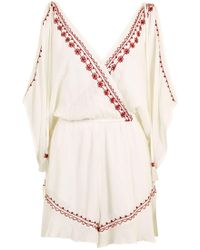 Band Of Gypsies - Embroidered Flower Playsuit By - Lyst