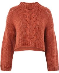 Native Youth - Cable Knitted Crop Jumper By Native Youth - Lyst