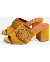 TOPSHOP - Nebraska Leather Mules - Lyst