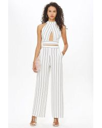 Love - stripe Palazzo Trousers By - Lyst
