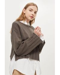 Native Youth - Cropped Knitted Jumper By Native Youth - Lyst