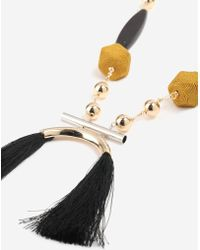 TOPSHOP - Curved Tassel Necklace - Lyst