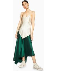TOPSHOP - Double Layer Silk Skirt By Boutique - Lyst