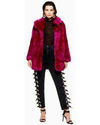 TOPSHOP - Luxe Faux Fur Coat - Lyst