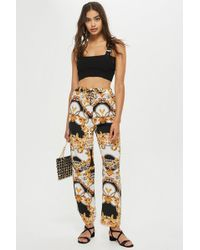 TOPSHOP - Chain Print Slouch Trousers - Lyst