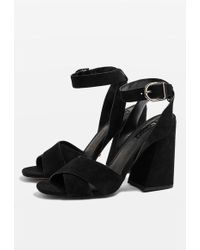 TOPSHOP - Ronnie Flare Heels - Lyst