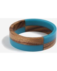 TOPSHOP - resin And Wooden Bangle - Lyst
