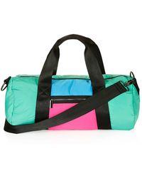 TOPSHOP - Colour Block Gym Bag - Lyst