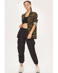 TOPSHOP - Premium Combat Trousers - Lyst