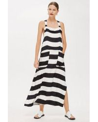 TOPSHOP - Striped Pinafore Dress By Boutique - Lyst