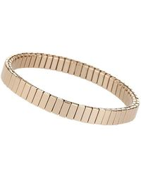 TOPSHOP - gold Ridge Stretch Bracelet - Lyst