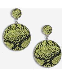 TOPSHOP - Snake Inlay Disc Earrings - Lyst